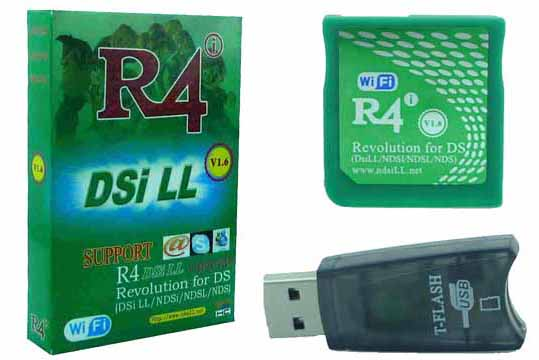 Nintendo R4 Cards : R4 - Wifi Gold R4I V1 6 SDHC for NDSiLL
